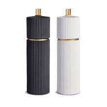 L'Objet Ionic Salt and Pepper Mills Black & White Large, MPN: SP1102.