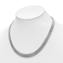 Mesh Necklace Sterling Silver Polished QLF919-18