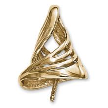 Pearl Pendant Finding 14k Gold MPN: YG4888