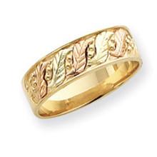 Black Hills Gold Wedding Band 10k Tri-color Gold MPN: 10BH510 UPC: