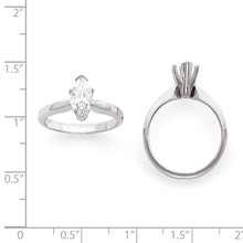 1-2ct. High-Shoulder Marquise Solitaire Mounting 14K White Gold  KS103-1/2