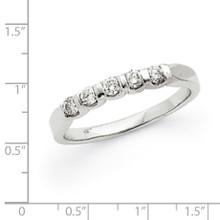 .25ct. Diamond Anniversary Band Mounting 14K White Gold  Y3681