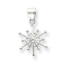 .01ct. Diamond Snowflake Pendant 14K White Gold  MPN: YC493 UPC: