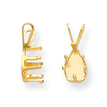 Pear 6-Prong Snap-In 5 x 3mm Pendant Setting 14k Gold MPN: YG995-1 UPC: