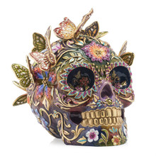 Jay Strongwater Frida Skull with Butterflies Figurine, MPN: SDH1909-289