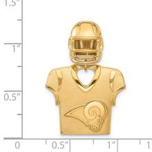 Los Angeles Rams Jersey & Helmet Pendant Gold-plated on Sterling Silver GP531RAM