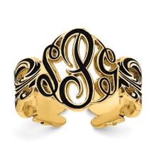 Gold-plated  Monogram Antique Ring, MPN: XNR96GP, UPC: