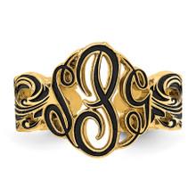 Monogram Antique Ring Gold-plated  XNR96GP