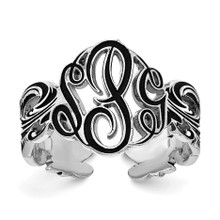 Sterling Silver Monogram Antique Ring, MPN: XNR96SS, UPC: