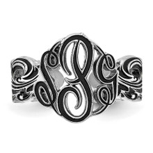 Monogram Antique Ring Sterling Silver XNR96SS