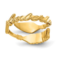 Gold-plated  Arrow Name Ring, MPN: XNR97GP, UPC: