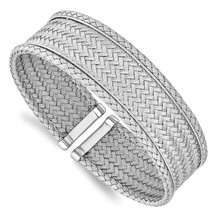 Leslie's Sterling Silver Polished Flexible Cuff, MPN: QLF1199, UPC:
