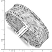 Polished Flexible Cuff Sterling Silver QLF1199