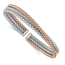 Leslie's Sterling Silver Rose Gold-plated Cuff, MPN: QLF1200, UPC: