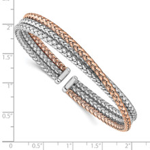 Rose Gold-plated Cuff Sterling Silver QLF1200