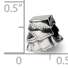 Skirt Bead - Sterling Silver QRS1067