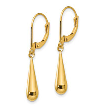 Tear Drop Dangle Earrings - 14k Gold SE1102