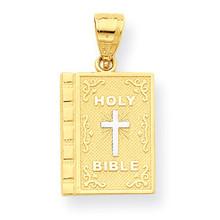 Holy Bible Charm 10K Gold & Rhodium 10C1038