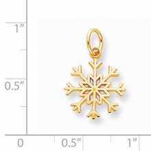 Solid Polished Snowflake Charm 10k Gold 10C732