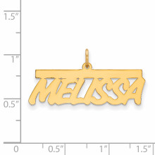 0.013 Gauge Polished Nameplate 10k Gold 10XNA78Y