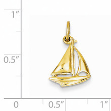 Sailboat Charm 14k Gold A1206