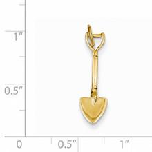 3-D Spade Charm 14k Gold A2140