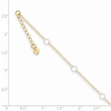 Adjustable Circle Anklet 9 Inch 14k Two-Tone Gold ANK184-9