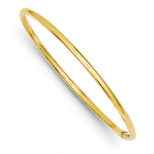 3mm Polished Round Tube Slip-on Bangle 14k Gold DB474