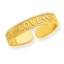 Love Toe Ring 14k Gold R551