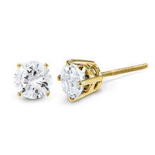 0.10ct. Diamond Stud Thread on off Post Earrings 14k Gold ST4-10