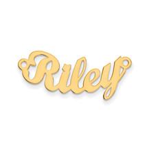 0.013 Gauge Polished Curved Nameplate 14k Gold, MPN: XNA75Y