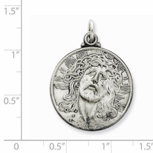 Ecce Homo Medal Antiqued Sterling Silver QC3443