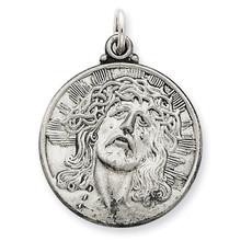Ecce Homo Medal Antiqued Sterling Silver MPN: QC3443