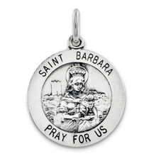 Saint Barbara Medal Sterling Silver MPN: QC3584