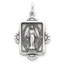 Miraculous Medal Antiqued Sterling Silver MPN: QC5510