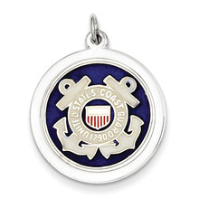US Coast Guard Disc Charm Sterling Silver MPN: XSM148