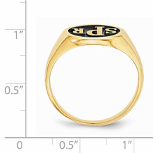 Monogram Signet Ring Gold-plated Sterling Silver XNR44GP