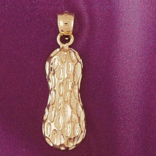 14K Yellow Gold Peanut Charm