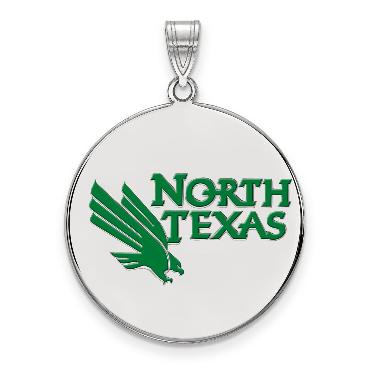 925 Sterling Silver Rhodium-plated Laser-cut The University of Texas at El Paso Large Pendant