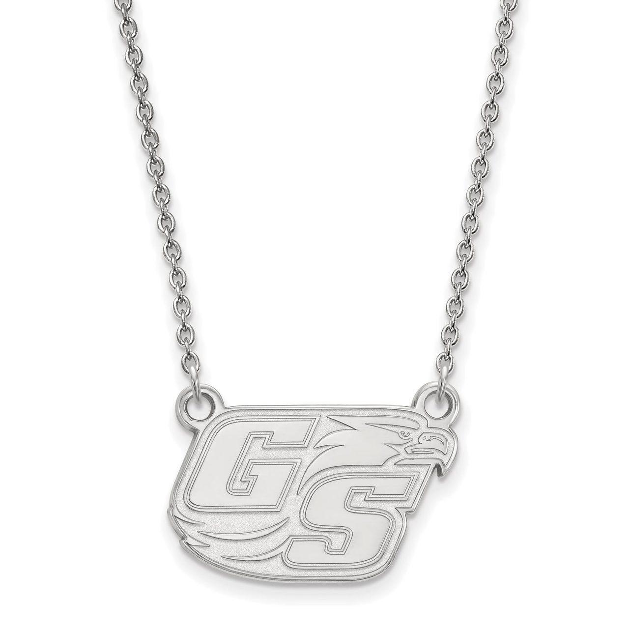 Sterling Silver Georgia Southern University Small Pendant by LogoArt SS005GSU