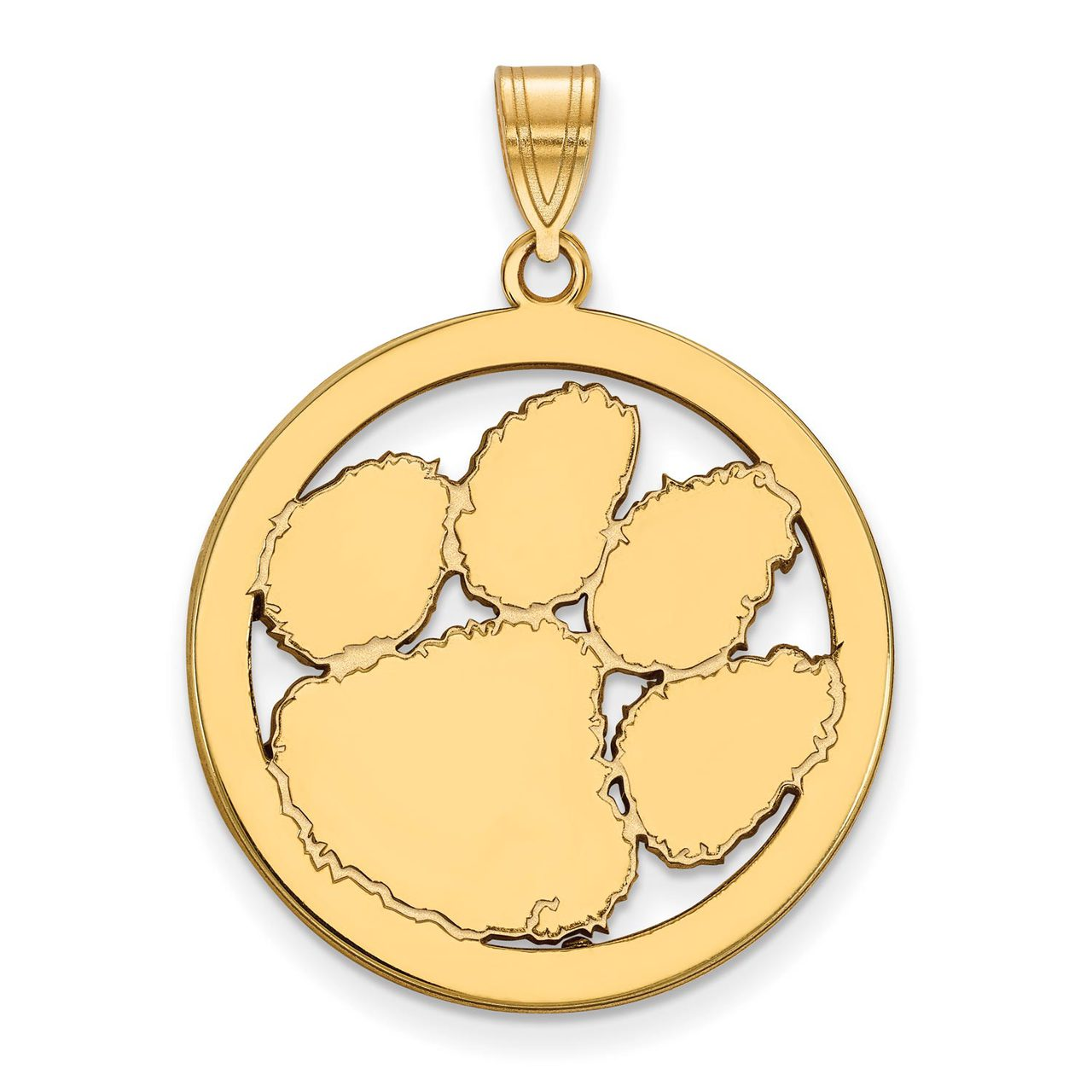 Sterling Silver University of Colorado L Pendant in Circle by LogoArt