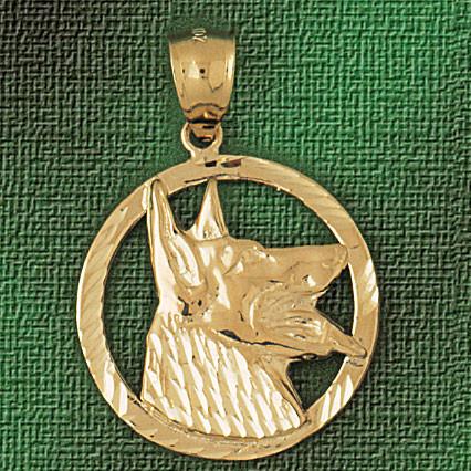 bc983e98e80d4 German Shepherd Dog Pendant Necklace Charm Bracelet in Gold or Silver 2136