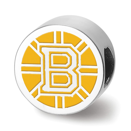 Boston Bruins B Primary Enameled Extruded Logo Bead