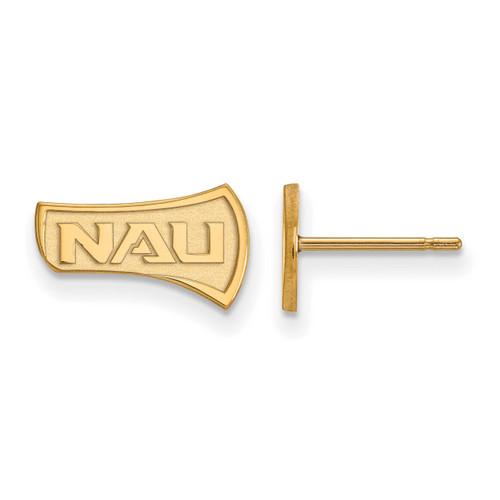 Northern Arizona University Extra Small Post Earrings Gold