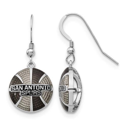Nba San Antonio Spurs Enameled Earrings Sterling Silver