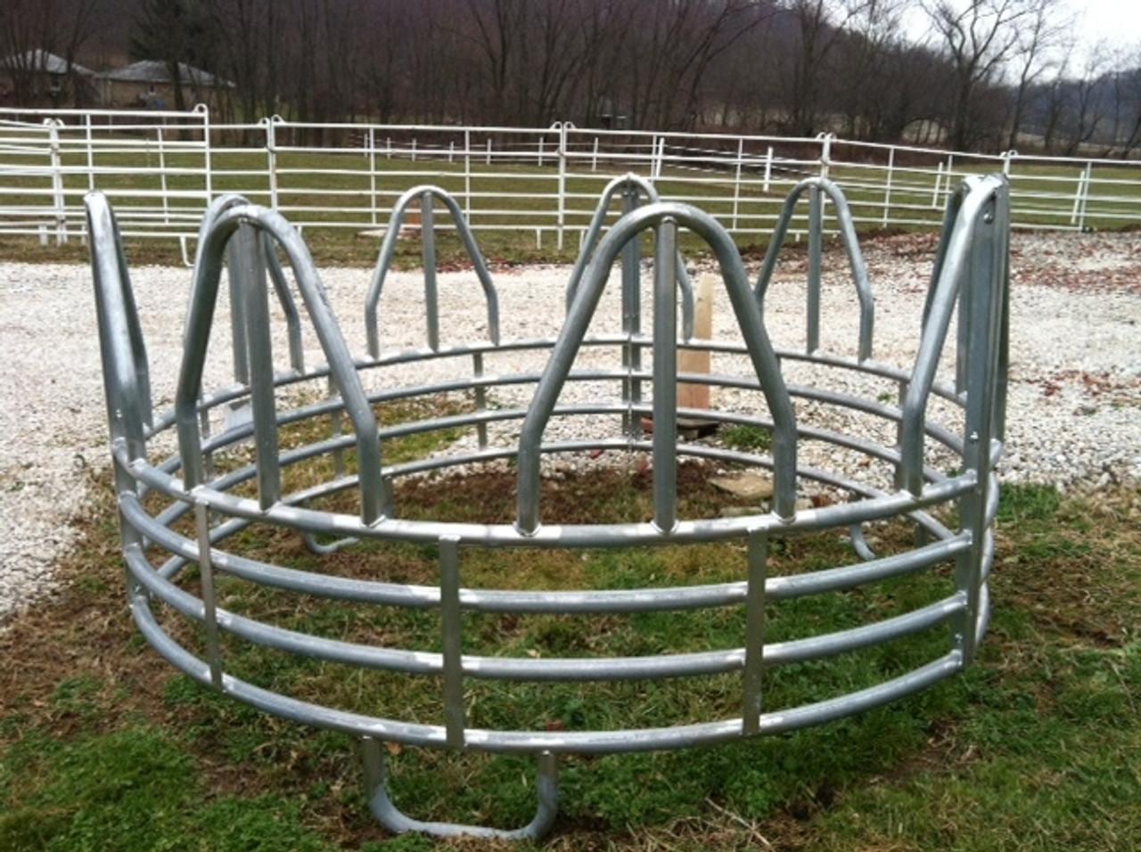 Heavy Galvanized Horse Round Bale Feeder