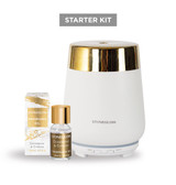 White/Gold Luna Starter Kit with Cedarwood & Cypress Fragrance Oil