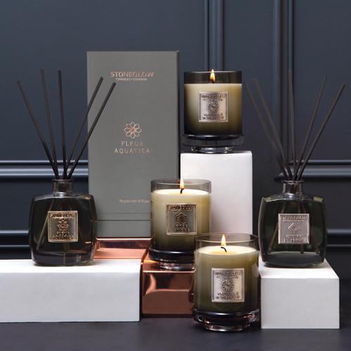 Metallique Collection - Fleur Aquatica - Scented Candle