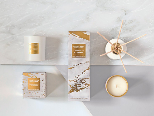 Luna - Cedarwood & Cypress - Scented Candle - Boxed Tumbler