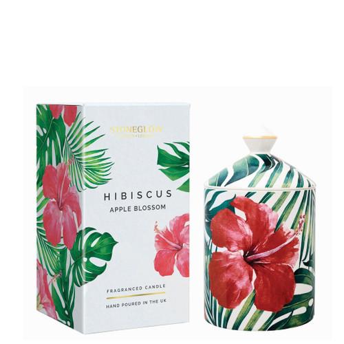 Urban Botanics - Ceramic - Hibiscus | Apple Blossom - Scented Candle - Boxed Tumbler